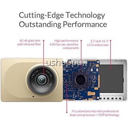 [English Version] Yi Smart Dash Cam 1080p Yi Dashcam Car 165 degree Yi Dash Camera Night Vision dashboard camera