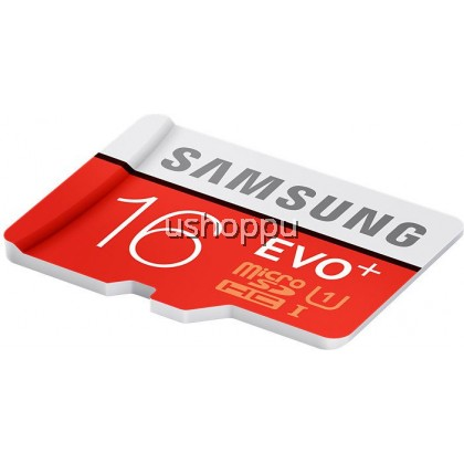 Samsung 16GB EVO Plus Class 10 Micro SDHC with Adapter 80mb/s