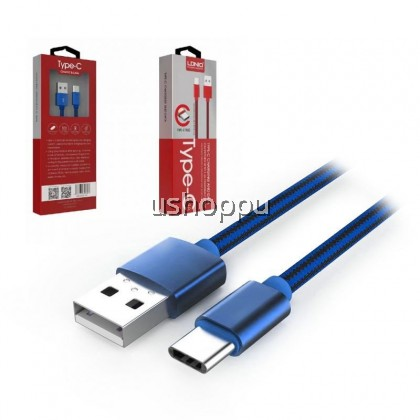 LDNIO LS60 High Speed 2.4A Fast Charging & Data Type-C Nylon Cable (1 Meter)