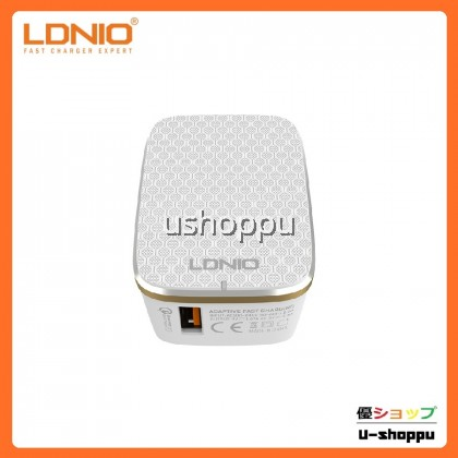 LDNIO A1204Q Desktop USB Travel Charger With One QC3.0 Fast Charging Port For Samsung / Iphone / Xiaomi / Huawei / Oppo / Vivo Cell Phone and more