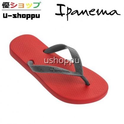 IPANEMA CLASSICA KIDS FLIP FLOPS (RED / GREY)