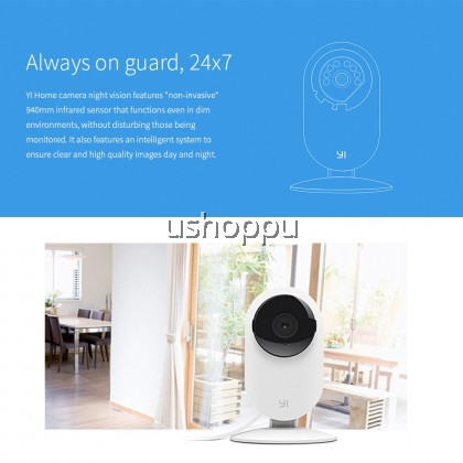 YI Home Camera 720p , Two-way Audio, Motion Detection, Night Vision For Pet/ Baby On Phone monitoring