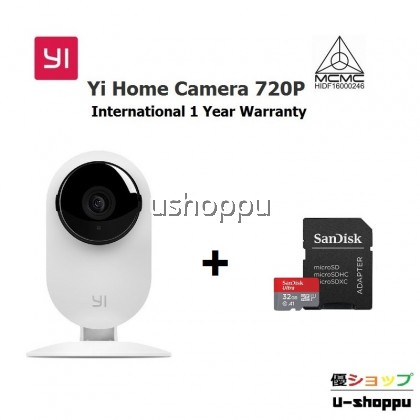 YI Home Camera 720p Wireless IP Security Surveillance System with Free Motion Alerts Cloud 6-Seconds Clips, Night Vision, Baby Monitor on iOS, Android App - Cloud Service Available
