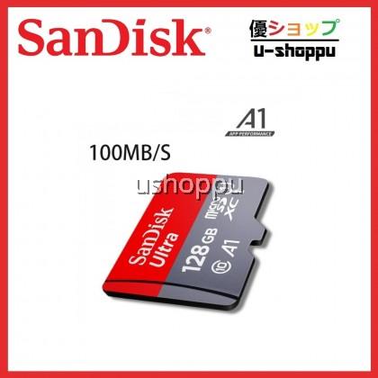 SanDisk Ultra MicroSD Memory Card 16GB/32GB/64GB/128GB 98MB/s /100MB/s A1 Class 10 UHS-I microSDHC SDSQUAR W/O SD Adapter