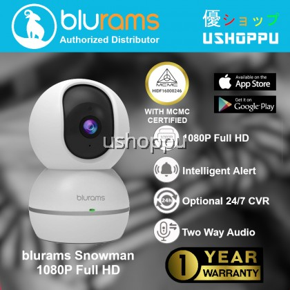 blurams Snowman 1080p Dome Security Camera | PTZ Surveillance System with Motion/Sound Detection, Smart AI Alerts, Privacy Mode, Night Vision, Two-Way Audio | Cloud/Local Storage Available | Works with Alexa