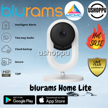 blurams Home Lite Security Camera 720p FHD Two-way Audio, Sound/ Motion Detection, Night Vision Work With alexa