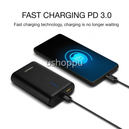 Pisen Easy Power 6 10050mAh Fast Charging Power Bank QC3.0 PD3.0 Dual Input Ultra-Compact External Battery Portable Charger Suitable For Travel Use
