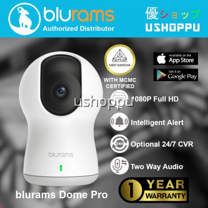 blurams Dome Pro, 1080p Security Camera with Siren | PTZ Surveillance System with Facial Recognition, Human/Sound Detection, Person Alerts, Night Vision | Cloud/Local Available | Works with Alexa