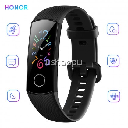 Honor Band 5 Smart Bracelet Watch Faces Smart Fitness Timer Intelligent Sleep Data Real-Time Heart Rate Monitoring 5ATM Waterproof Swi [Honor Malaysia Set English Version]