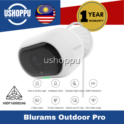 blurams Outdoor Pro, Security Camera System 1080p FHD Outside w/Two-Way Audio, Starlight Night Vision, Facial Recognition, Deterrent Alarm, Weatherproof, Cloud/Local Storage, Works with Alexa
