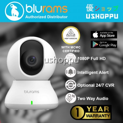 blurams Dome Lite 2 Camera 1080p Wireless Security Camera Pan/Tilt/Zoom WiFi Camera with Smart Motion/Sound/Person Detection Two-Way Audio Night Vision Privacy Mode | Cloud&Local Storage| Works with Alexa