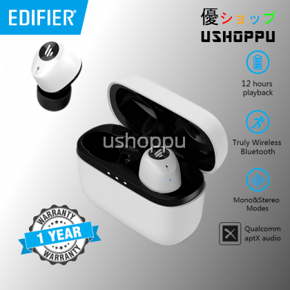 EDIFIER TWS2 TWS Earbuds Bluetooth V5.0 IPX4 up to 12 Hrs Play Time Multifunctional Control wireless earphones