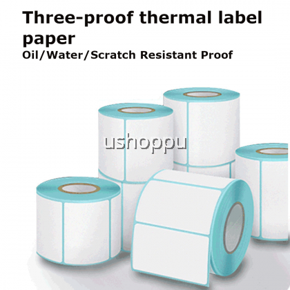 【Ready Stock】A6 Thermal Paper 100*150mm AWB Standard Thermal Barcode Label 10X15cm Three Proof Thermal Label Paper 三防热敏纸