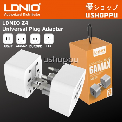 LDNIO Z4 Universal Worldwide Travel Adapter Wall Charger Power Plug for USA EU UK AUS 6A Socket Suitable For Traveller