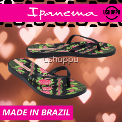 Ipanema Ladies Flip Flop & Sandal Wanita- Swell Print Fem Black/ Pink/ Green