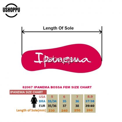 Ipanema Ladies Flip Flop & Sandal Wanita - Bossa Fem Black/Black