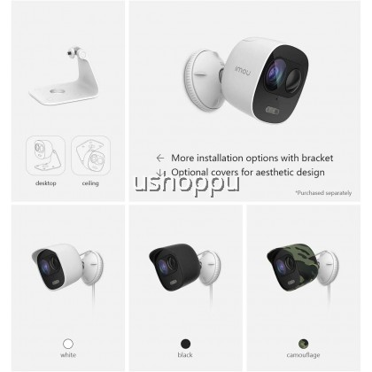 Imou Looc Weatherproof Outdoor Security Camera, Proactive Deterrence Surveillance Camera with Siren and LED Spotlight, 1080P FHD Wi-Fi IP Camera with PIR Motion Detection, Two-way Audio and Night Vision