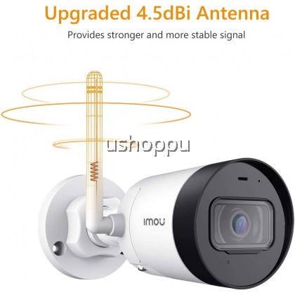 Imou Bullet Lite Surveillance Camera, Superb IP Wi-Fi Bullet Camera, Built-in Microphone, Motion Detection and Night Vision
