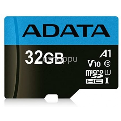 ADATA Premier 32GB MicroSDHC/SDXC UHS-I Class 10 V10 A1 Memory Card with Adapter Read up to 100 MB/s