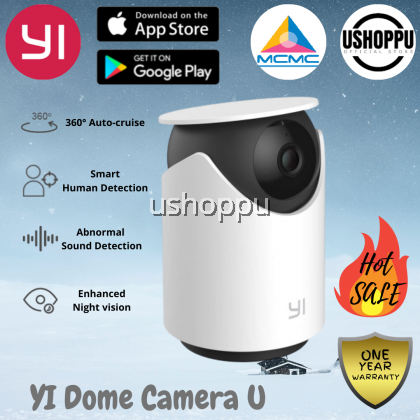 YI Dome Camera U 2K CCTV 1296P, Human detection, Wide-Angle, 2-Way Audio, Night Version, Abnormal Sound Detection