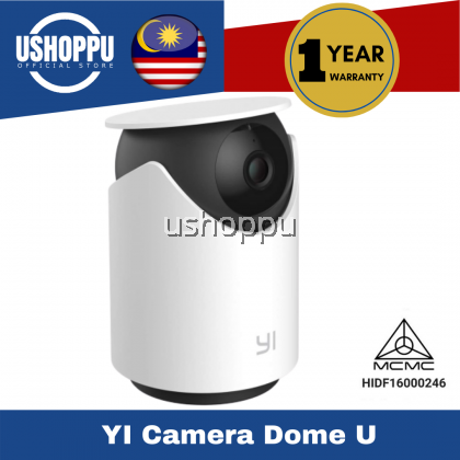 [GLOBAL ENGLISH VERSION] YI Dome Camera U 2K CCTV 1296P, Human detection, Wide-Angle, 2-Way Audio, Night Version, Abnormal Sound Detection