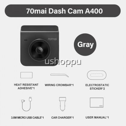 [Ready Stock] 70mai A400 Car Recorder Dash Cam QHD 1440P Rear Cam Night Vision 145 FOV WDR App Control Smart