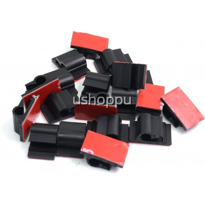 3M Adhesive Tape Dash Cam Cable Holder DashCam Wall Wire Clips to Clamp Lines (10 PCS)