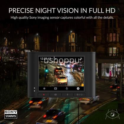"YI Nightscape Dash Cam, 1080p Smart Wi-Fi Car Camera with Heat-Resistant Supercapacitor Superb Night Vision Sony Sensor 140° FOV, 2.4""Screen"