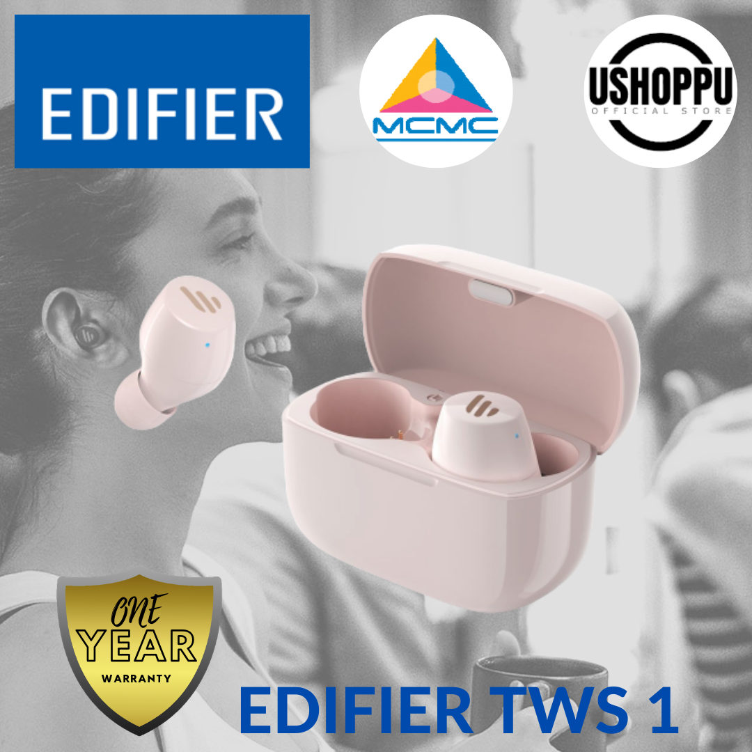 Edifier TWS1 True Wireless Earbuds Bluetooth Earphone Wireless headphone bluetooth IPX5 splash & sweatproof Edifier Earphone Wireless
