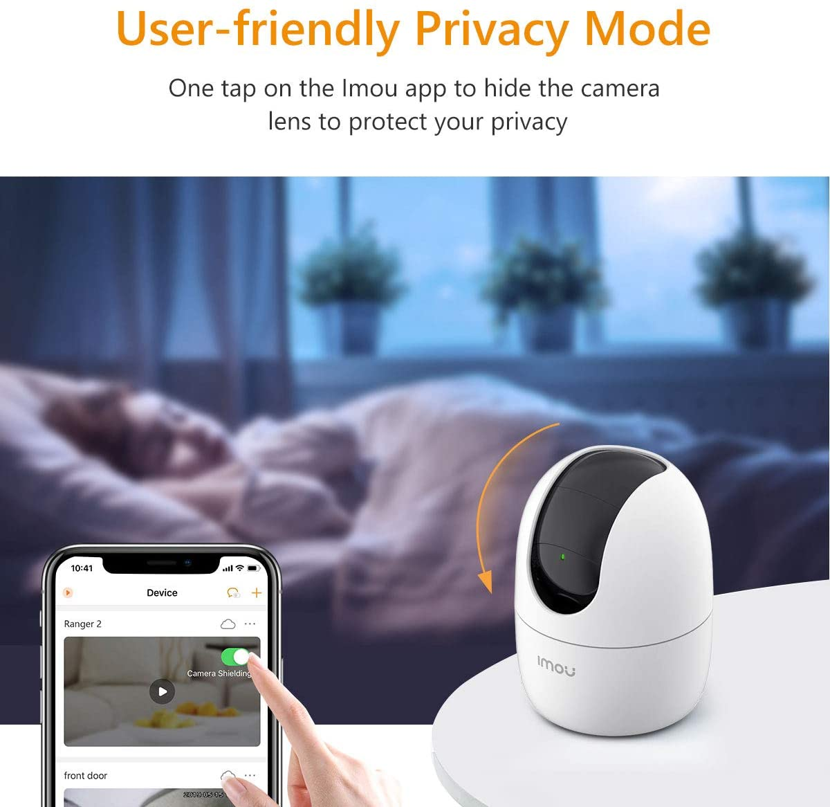 Imou Ranger 2 Indoor Wi-Fi Security Camera, 1080P Pan/Tilt Dome Camera, Home Surveillance Camera with Human Detection, Smart Tracking, Privacy Mode, Smart Sound Detection, Two-way Audio and Night Vision
